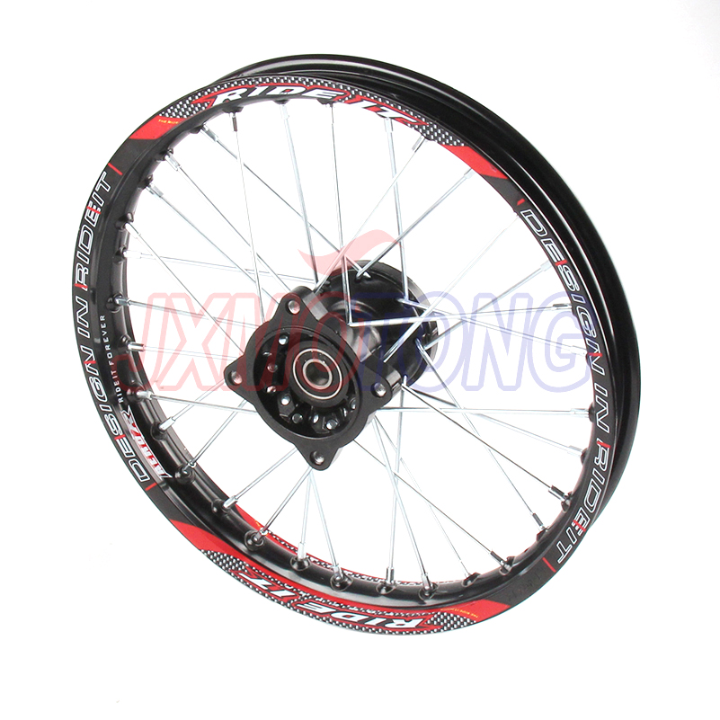 Front Wheels 1.40x14inch Alloy Rim For KAYO BSE Apollo Xmotos CRF KLX TTR 50 110 125 140 160cc Dirt bike Spare Parts image