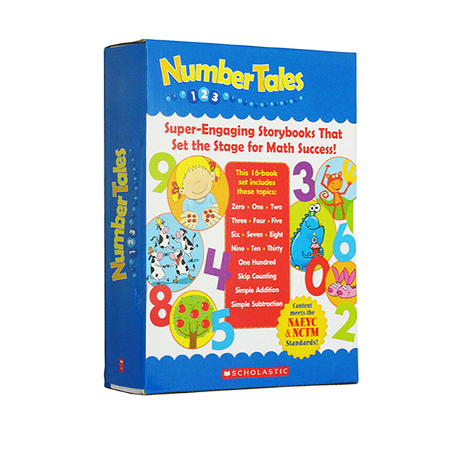 Learning Number Tales 16 Books/set English Books for Children Math Book for Kids Game Educational Toys In English