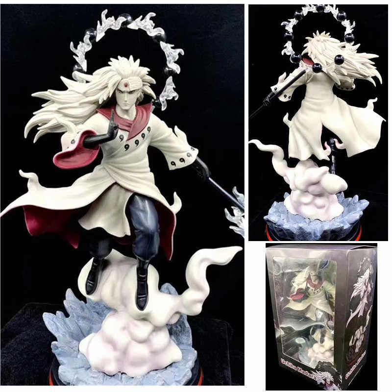 Anime Naruto Figura GK Uchiha Madara Rikudo Sennin Ootutuki Hagoromo PVC Action Figure Da Collezione Modello Giocattoli Per Il Regalo 36 centimetri