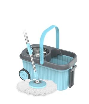 Hand-free mop swivel universal single barrel home lazy mop bucket tow a mop net mopping artifact