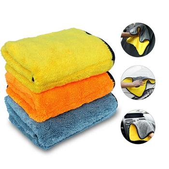 3 Pack 45x38cm Microfibre Drying Cloths Car Detailing Cleaning Towels 800GSM image