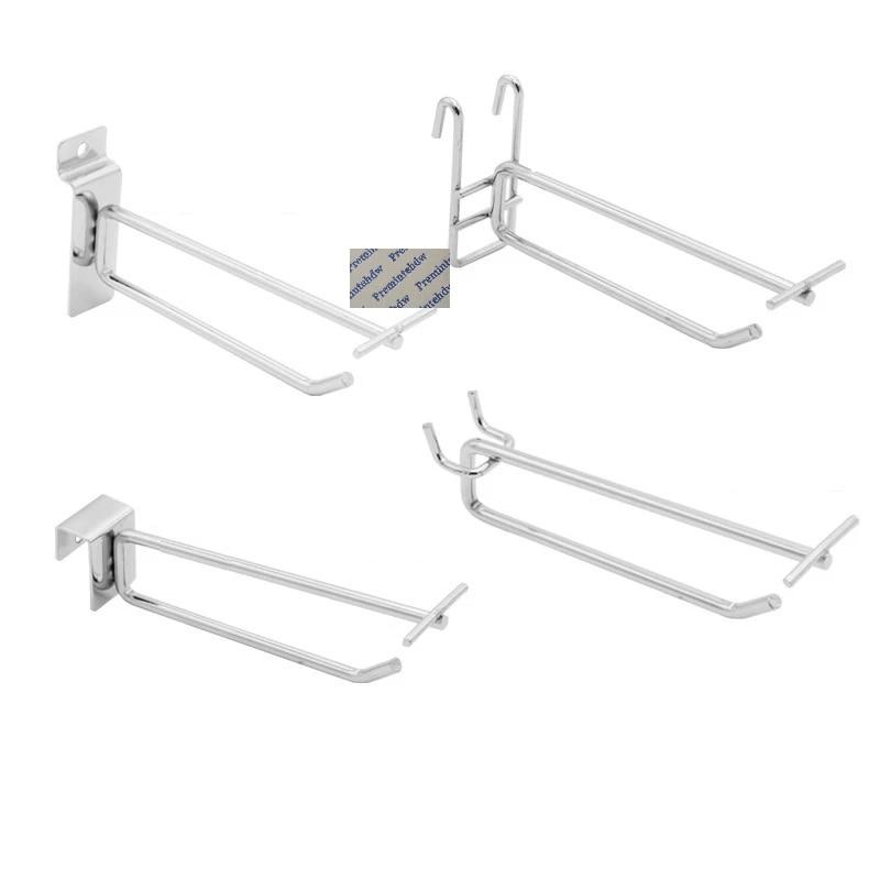 10pcs slatwall flip square tube mesh pegboard display hook with label holders display rack shop store supermarket