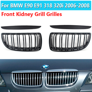 1Pair Auto Intake Grille High Quality Se30 Car Black Front Kidney Grill Grilles For BMW E90 E91 318 320i 325i 330i 2006-2008