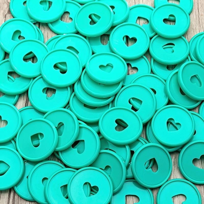 72PCS 35MM Green Mushroom Hole Binding Buckle Disc