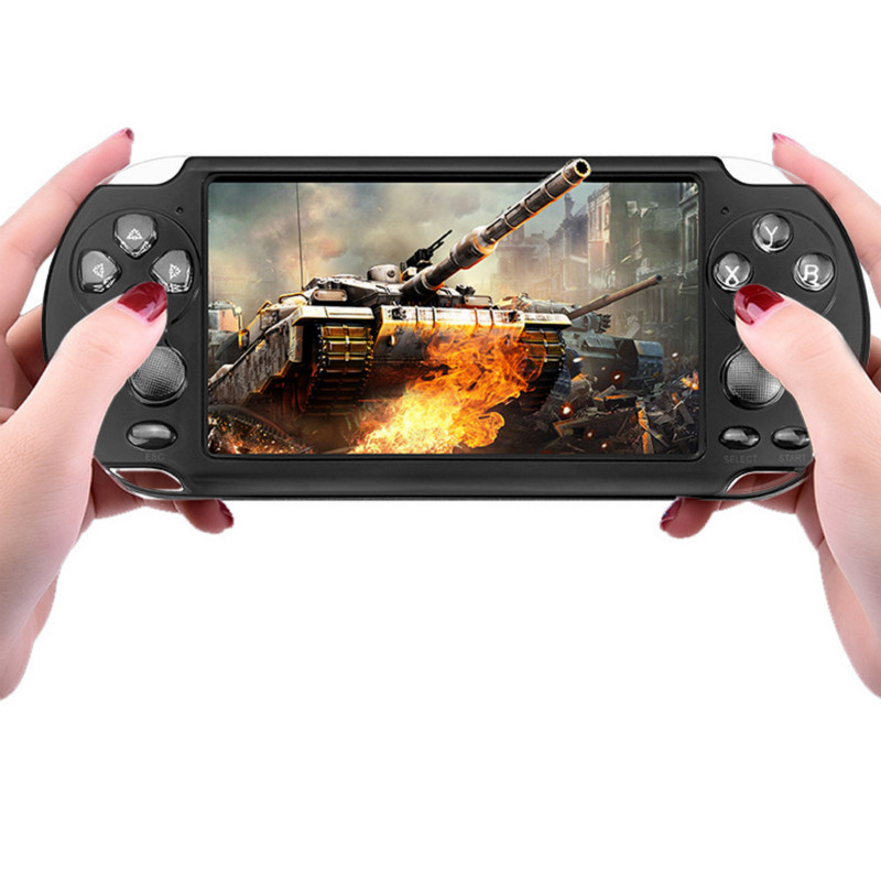 5.1 inch large screen for PSP game camera video MP4 MP5 classic handheld game console support TV video game console for kid gift image