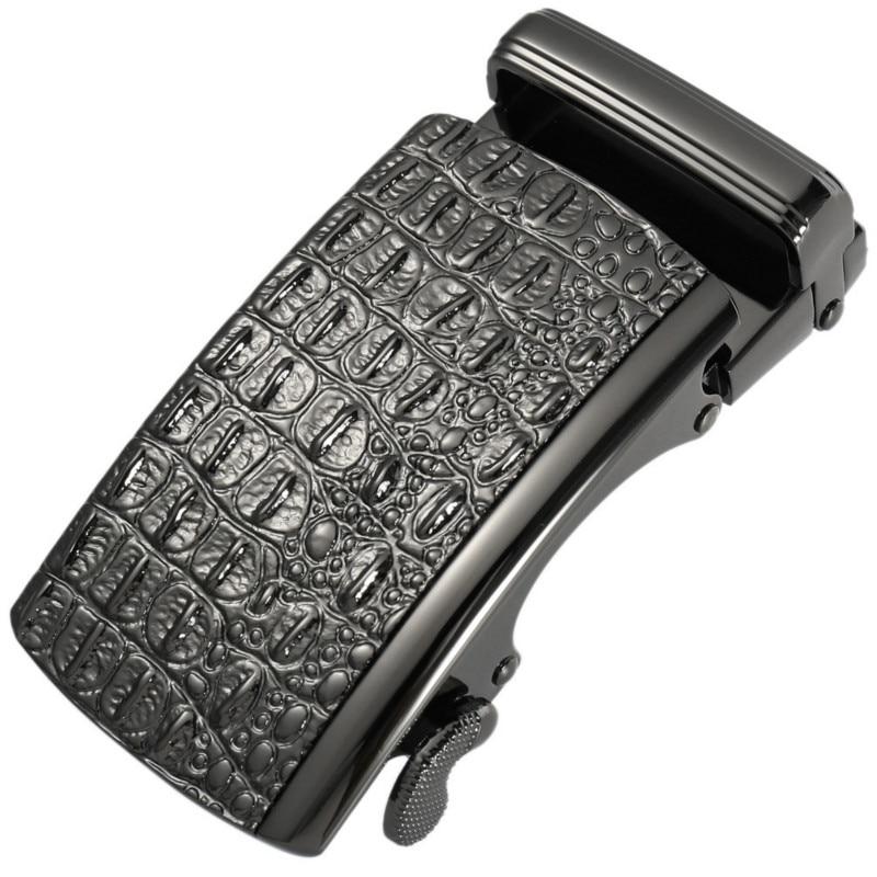 New Fashion Men's Business Alloy Automatic Buckle Unique Men Plaque Belt Buckles For 3.5cm Ratchet Belt Luxury Brand LY136-1813