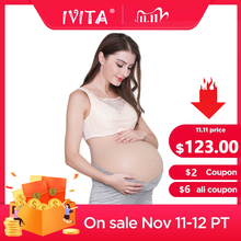 IVITA 100% Artificial Silicone Fake Pregnant Soft Belly Realistic Silicone Pregnancy Jelly Belly For Crossdresser Unisex Cosplay