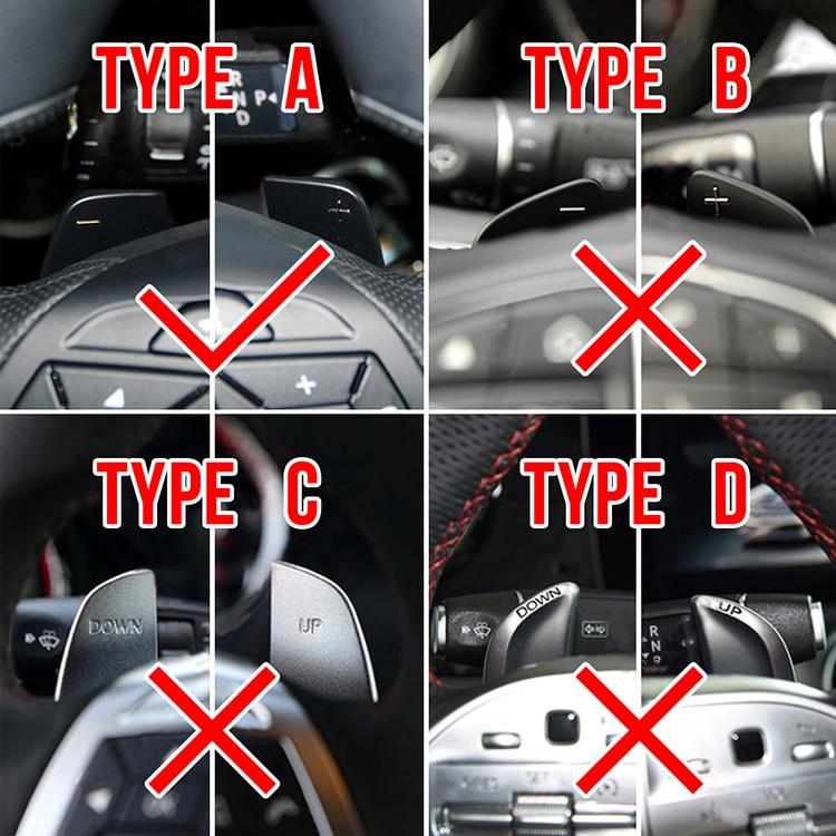 WBMKH Car Decoration Car Steering Wheel Paddle Shifter Extension,for Benz AMG W176 W204 W212 W166 W218