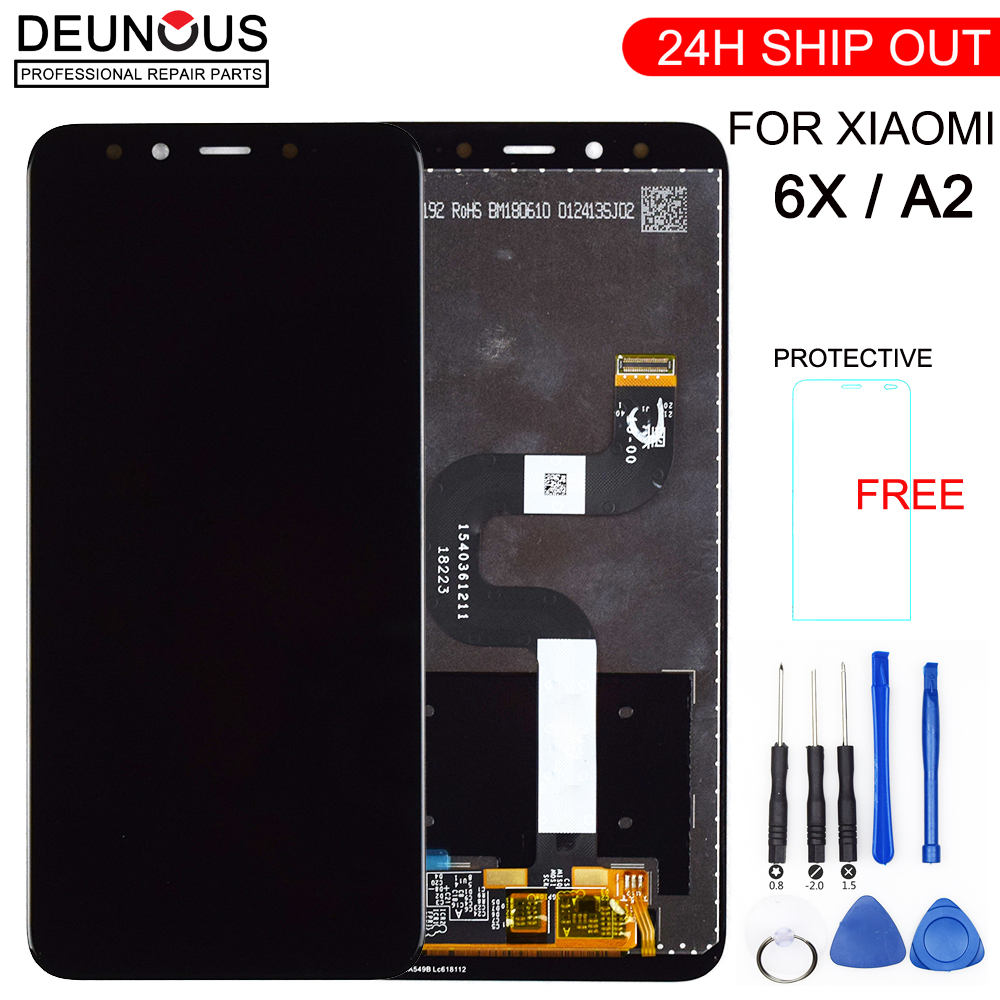 New For XIAOMI Mi A2 LCD Display Digitizer 10 Touch Screen Panel For XIAOMI Mi 6X LCD Digitizer Replacement Repair Repair Parts