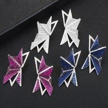 GODKI известный бренд перо в виде геометрических фигур замок серьги Мода циркониевые Свадебные Обручение вечерние серьги dubai для женщин