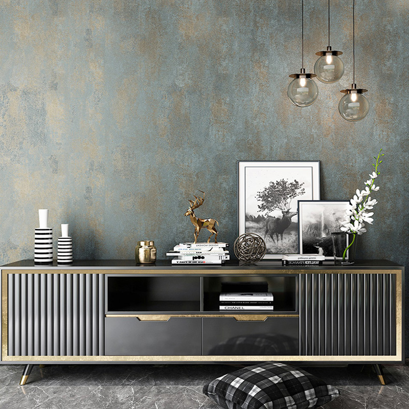 Retro Non-woven Plain Color Wallpaper Living Room TV Sofa Bedroom Luxury Home Decor Wall Papers Rolls For Walls 3 D Papel Tapiz