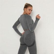 Selfee 2 Pcs Sets Yoga Suit Tummy Control Sports Suits High Stretch Yoga Leggings Sets Fitness Sports Shirt Sets Gym Wear