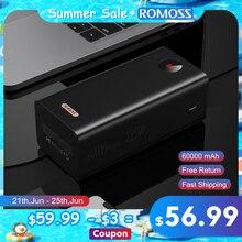 ROMOSS PEA60 Power Bank 60000 mAh SCP PD QC 3,0 Quick Charge Power 60000 mAh Externe Batterie Ladegerät Für Huawei iPhone