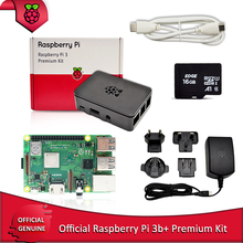 Official Raspberry Pi 3B+ premium kit with Raspberry Pi Power supply EU/UK/AU/US plug +RPI HDMI cable+case+16G TF card in stock