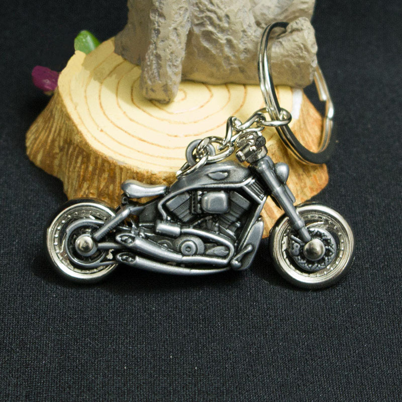 1Pcs Fashion Military Sports Style Motorcycle Model Metal Pendant Key Chain Figures Toys Creative Decorative Toys for Kids Gifts