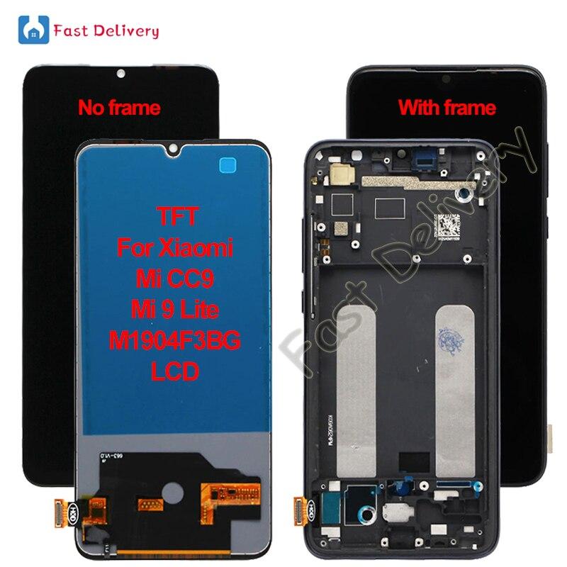 TFT для Xiaomi Mi CC9 Mi 9 Lite M1904F3BG ЖК-дисплей сенсорный экран дигитайзер в сборе запасные аксессуары Запчасти 100% Протестировано