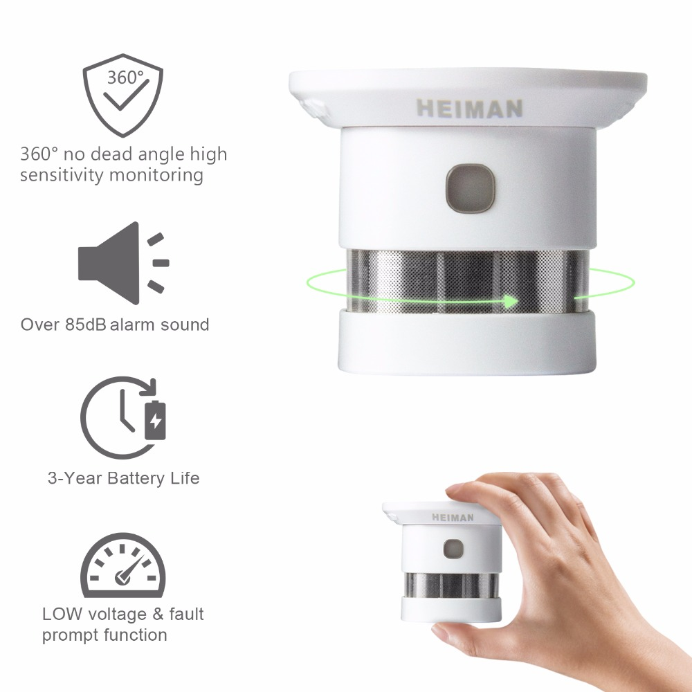 HEIMAN Free Shipping Zwave Fire protection alarm Smart Z wave Smoke detector 868MHz 3pcs High sensitivity Z wave Safety Sensor - 3