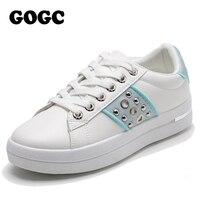 GOGC baskets femmes 2020 chaussures décontractées respirantes femmes baskets toile chaussures femme Sneaker à lacets femmes chaussure plate-forme G6818
