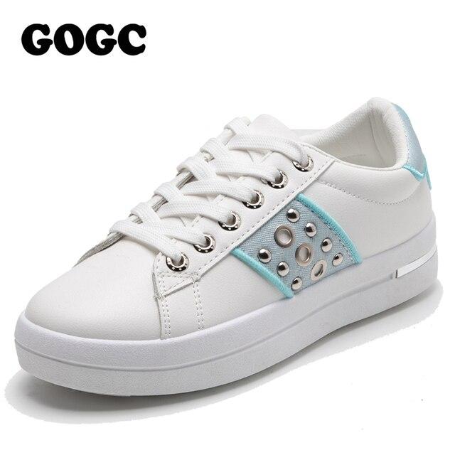 $ US $21.28 GOGC Sneakers Women 2020 Breathable Casual Shoes womens sneakers canvas shoes Female Sneaker Lace Up Women Shoe Platform G6818