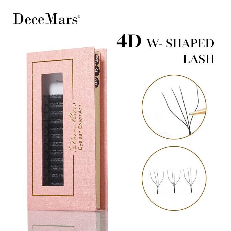 DeceMars 4D - W наращивание ресниц (12 линий/лоток)
