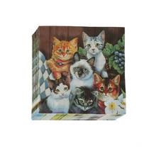20Pcs/set 33x33Cm Cat Pet Paper Napkin For Girl Disposable Party Tableware Festive Party Supplies Tissue Decoration