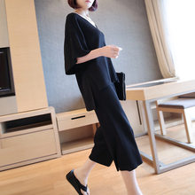 Fashion Tide New Korean Short-sleeved Suit Wide-leg Pants Loose Thin Two-piece Leisure Fashion Trend AS21311S(China)