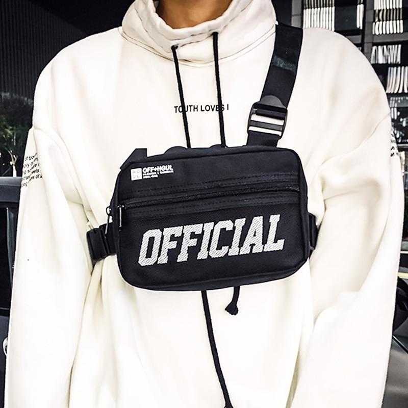 Men Chest Bag Small Tactical Chest Rig Hip-hop Vest Bag Outdoor Streetwear Chest Bags For Men Waist Pack Kanye