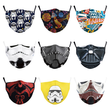 Kids Mouth Face Mask Fashion 3D Star Wars Print Masks Fabric Reusable Washable Masks Mouth-Muffle PM 2.5 FilterPaper Dust Mask 1