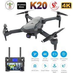 2019 NEW K20 Drone With 4K Camera Dual GPS One-Key Return Headless Mode Follow Me Circle Fly RC Drones toys