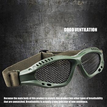 Okulary ochronne regulowane przezroczyste przeciwmgielne ochronne zewnętrzne gry sportowe okulary ochronne odporność na uderzenia okulary ochronne tanie i dobre opinie Cs Tactical Goggles Anti Fog Metal Mesh Glasses Other Airsoft Metal Mesh Large Glasses Paintball Goggles Hunting Tactical Eyewear