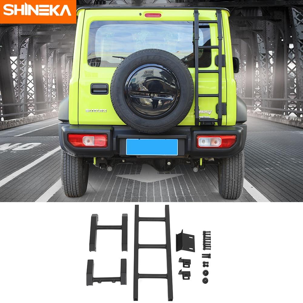 SHINEKA Protective Frames For Suzuki Jimny JB74 2019+ Car Exterior Rear Door Tailgate Ladder Accessories For Suzuki Jimny 2019+Protective Frames   -