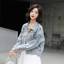 Autumn Jacket 2019 New Women Wear Sets of Short Denim Jacket In Pure Color Turn-down Collar Single Breasted Women Jackets