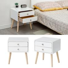 Nordic Minimalist Bedside Table With Two Drawer Mini Practical Beauty Bedroom Furniture Saving Space Nightstands Bed Table HWC