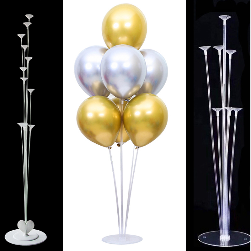 Wedding Decoration <font><b>7</b></font>/11 <font><b>Tubes</b></font> <font><b>Balloon</b></font> <font><b>Stand</b></font> <font><b>Balloon</b></font> <font><b>Holder</b></font> Column Plastic Ballon Stick for Birthday Party Decorations Babyshower image