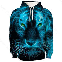 Men women 3d print sweatshirts acuarela animals fashion casual