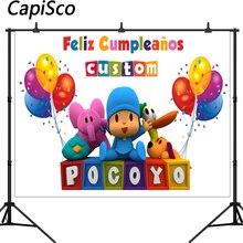 كابيسكو التصوير خلفية شخصيات كرتونية بوكويو حفلة عيد ميلاد الطفل بالون ملون صور خلفيات للاستوديو