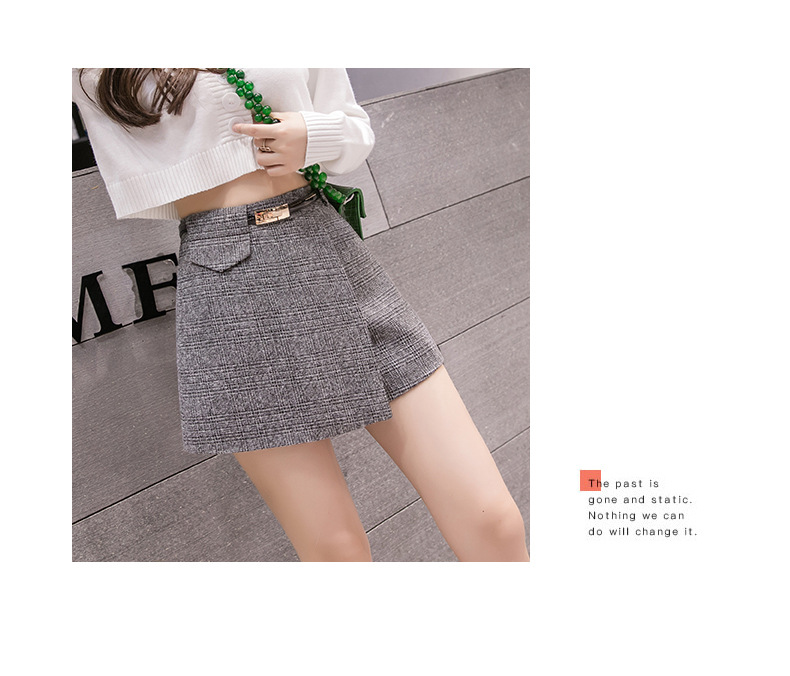 H7ab8a22a7f744012ad62a4a7049ea3a1N - Irregular Woolen Plaid Shorts Skirts For Women Atumn Winter Office Short Women Plus Size Booty Shorts Feminino