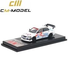 Cm modelo 1:64 mitsubishi lancer evolution ix pérola branco diecast modelo carro
