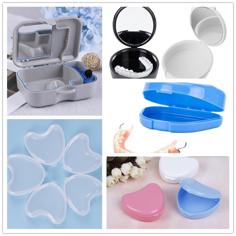 1pc Convenient Denture Storage Box Case False Teeth Appliance Container Storage Box Denture Storage Case 5 Styles