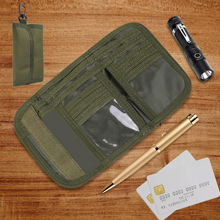 Tactical Wallet Pouch-Holder Purse Trifold Military Edc Sports Outdoor 600D with Buckle