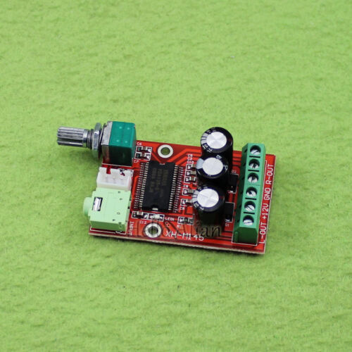 DC 12V YDA138-E AMP Digital Audio Power Amplifier Board 12W+12W Dual Channel D-class