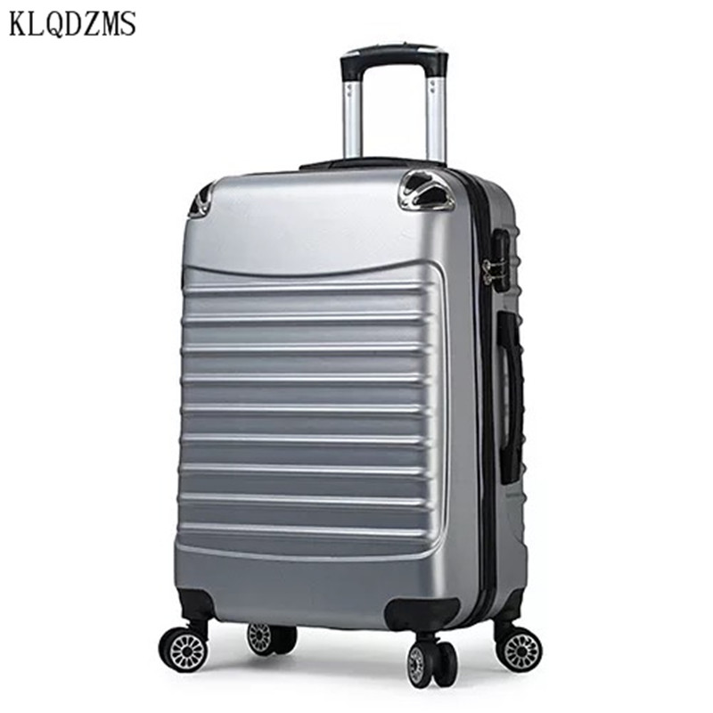 KLQDZMS New hot  carry-ons men women travel spinner rolling luggage on wheels 20/24 inch Cabin trolley suitcase