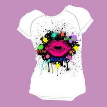 Noisydesign модная женская футболка с принтом в виде губ короткими