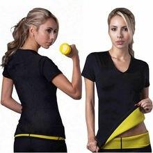 Las mujeres calientes de Sauna body adelgazar cintura deportes deporte desgaste Tops quema grasa camisetas deportivas