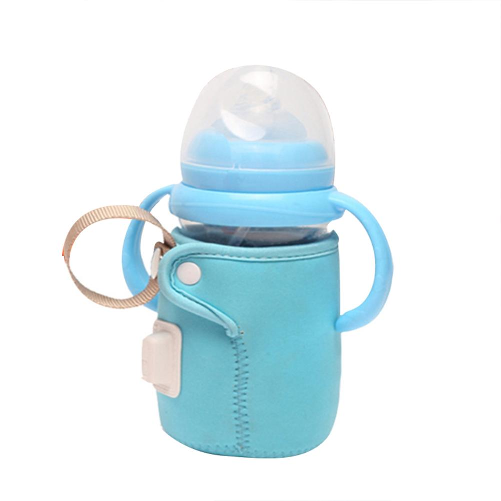USB Milk Warmer Insulated Bag Portable Travel Cup Warmer Baby Nursing Bottle Cover Warmer Heater Bag Infant Feeding Bottle Bags