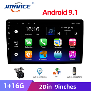 JMANCE 9 inch 2 din Multi-topic switching 2.5D Car Android 9.1 radio Multimedia Player for Nissan Toyota Honda Kia Chevrolet