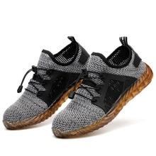 Для мужчин s летние рабочие ботинки из дышащего материала Сталь носок Противоударная защитная Рабочая обувь Для мужчин не прокалываются, сертификат безопасности Для мужчин обувь ботинки