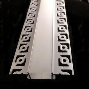 Image 4 - 5 30 adet/grup 2m 80 inç led lineer striip konut alçı kurulu gömülü led alüminyum profil, çift sıra 20mm bant işık kanalı