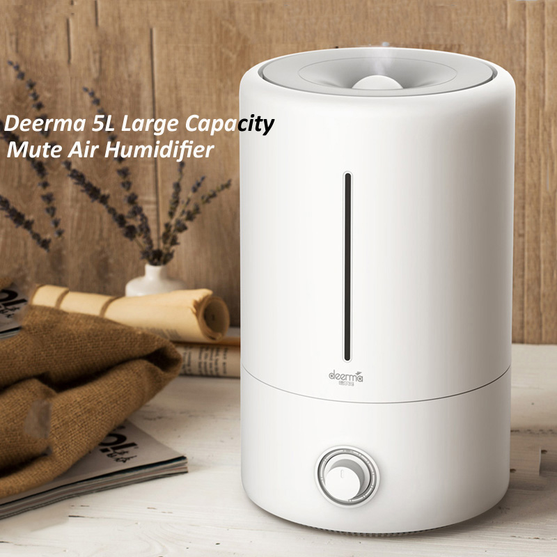 Deerma Ultrasonic Air Humidifier 5L Large Capacity Household Multifunction  Aromatherapy Diffuser Humidifier Air Purifier