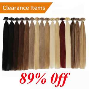 Hair-Extensions Human-Hair Fusion Remy-Keratin Clearance-Items Pre-Bonded Straight 14-50pcs